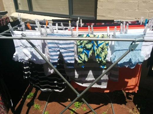 Laundry day also in the Rocky Trail head office :-)