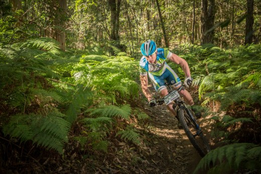 Andrew Lloyd at race pace at the Shimano MTB Grand Prix.
