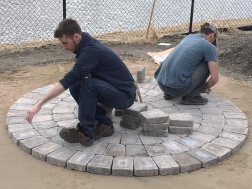 Circular Patio Construction