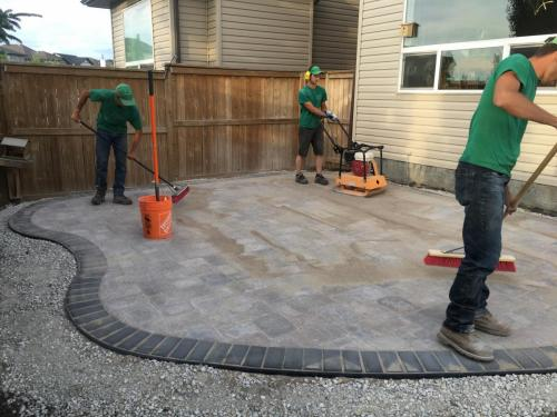 Final work on Roman Paver Patio