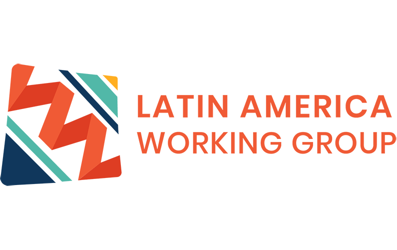 Latin America Working Group Logo with words of organization