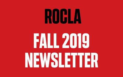 ROCLA Fall 2019 Newsletter