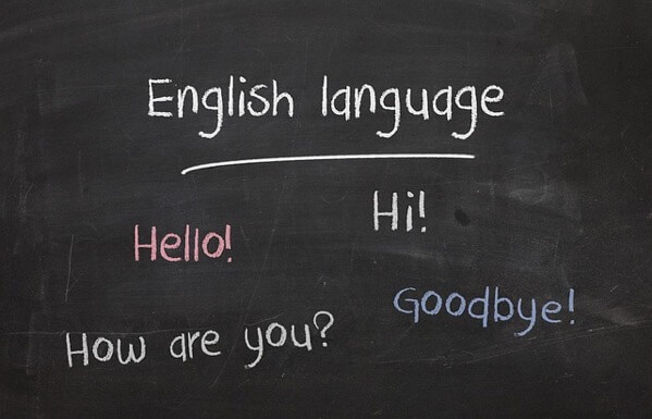 黒板に書かれた英語