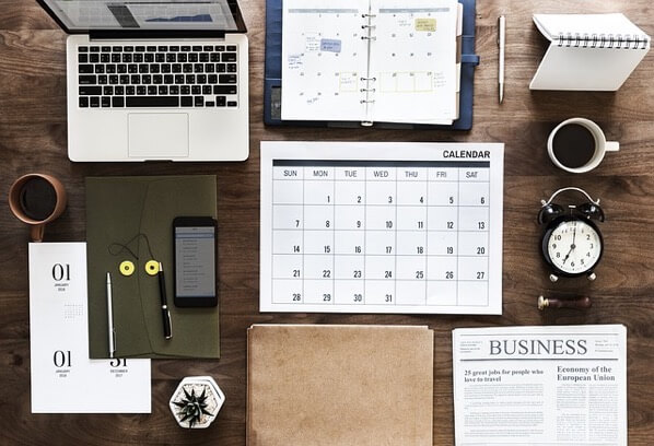 カレンダーやMacBook