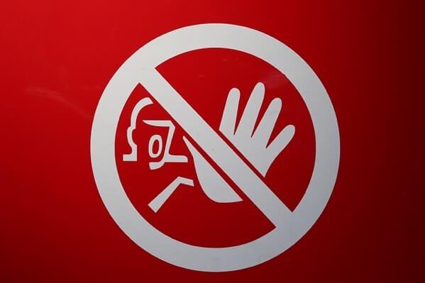 禁止という標識