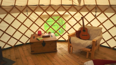 guitar playing if you like. Yurt camping.