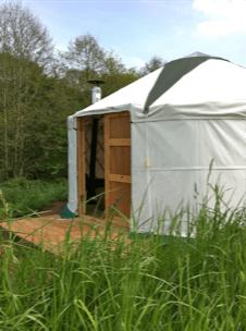 yurt by a lake in ddevon
