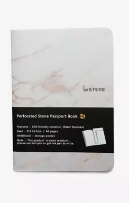 3 x Carnet type passeport (2 blancs et 1 noir)