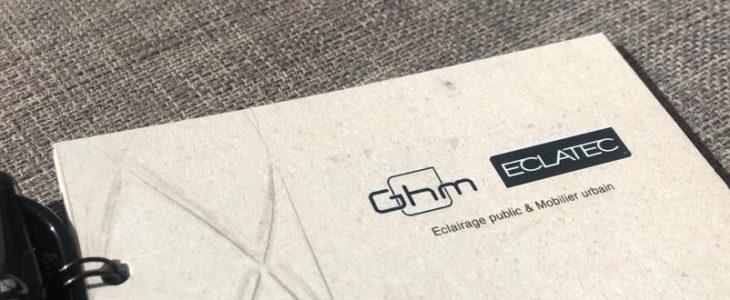 Le carnet personnalisé par Eclatec, avec son stylo effaçable