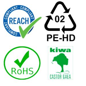 composition stone paper certification rohs reach kiwa