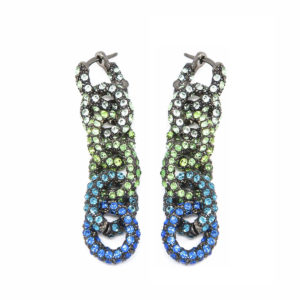 Earring Chain for Love Green Blue SCH 470-2
