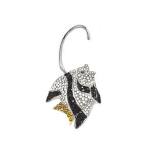Earring Fish Love Black and White SCH 452-2-right