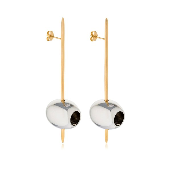 Earring Tapeo Gold and Silver SCH 377-1