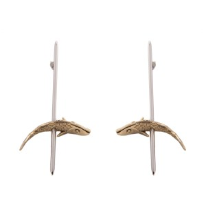 Earring Tapeo Gold and Silver SCH 381-1