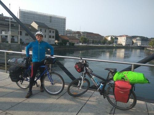 acceso a Ginebra en bici