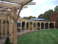 Traditional Oak Pergola with curved beams | Oxford Oak blog