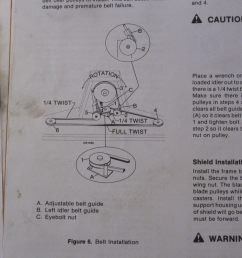 wiring diagram for exmark mowers best wiring librarywoods mower rm48ym 2 how to change the belt [ 4000 x 2248 Pixel ]