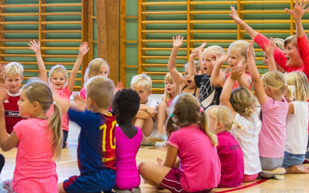 Børnegymnastik i foråret