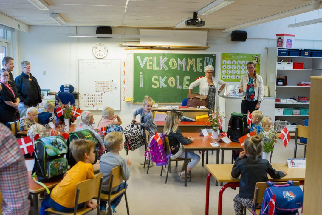 Første skoledag på Sødalskolen