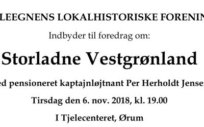 Foredrag om Vestgrønland i Tjelecenteret