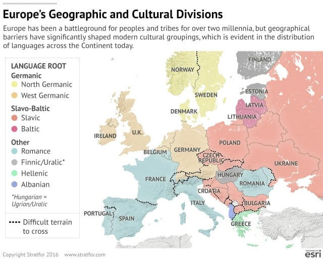 Europe's Geographical & Cultural Divisions