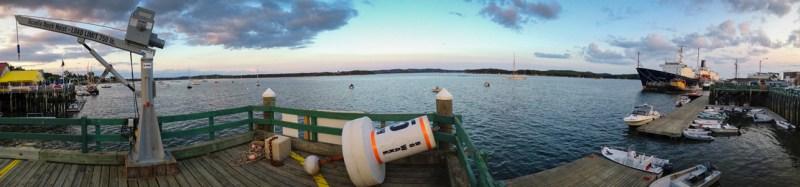 Town Dock Panorama, Castine, Maine