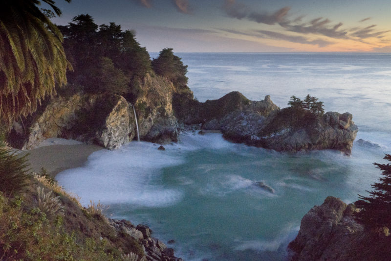 McWay Falls at Dusk, Julia Pfeiffer Burns State Park, Big Sur, California, US