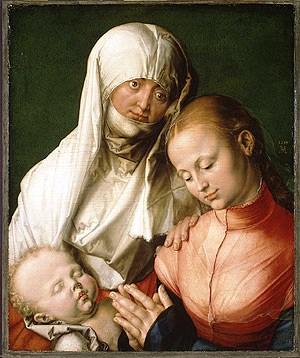Albrecht Dürer - Maagd met Kind en Sint-Anna - 1519