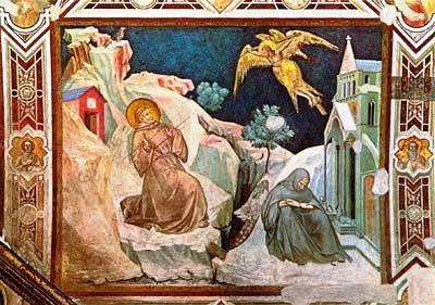 Assisi 14 (Basiliek - Franciscus ontvangt de stigmata)