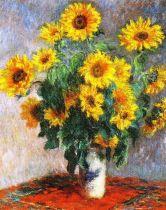 Claude Monet - Boeket van zonnebloemen - 1881