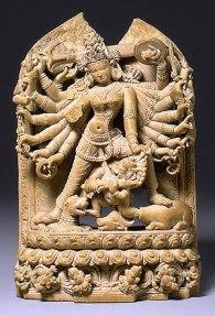 Godin Durga doodt de demon - Bangladesh - 1130