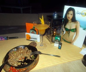 sisig and cocktails, Boracay