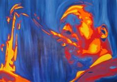 John Coltraine Painting by Rodger Bliss Bradenton Florida
