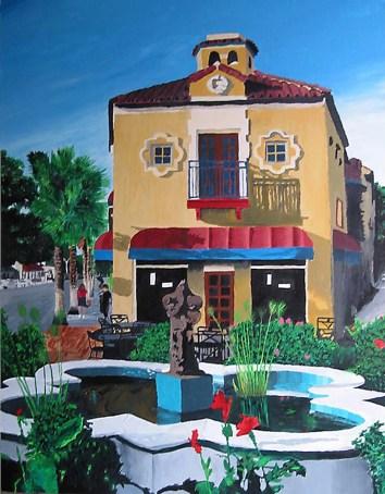 Orange Pineapple Sarasota Florida Painting