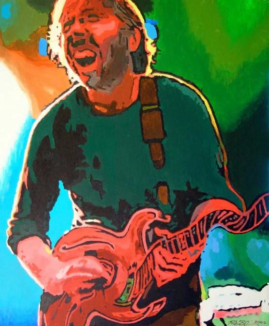 Trey Anastasio Painting by Rodger Bliss of Bradenton Florida