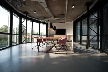 photo of serene-looking conference room