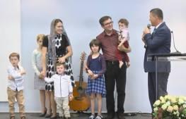Familia Bodnariu la Biserica Emanuel Sibiu
