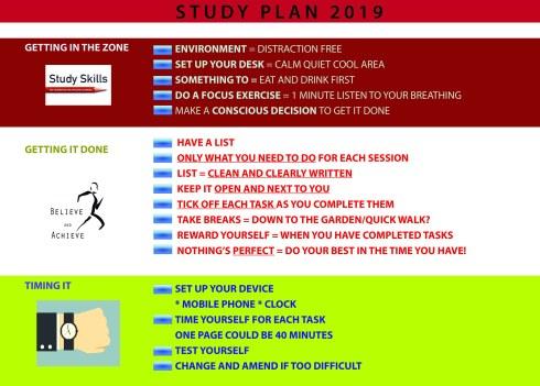 Study plan 2019