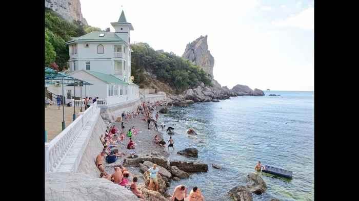 Фото пляжа санатория Юность Симеиз2