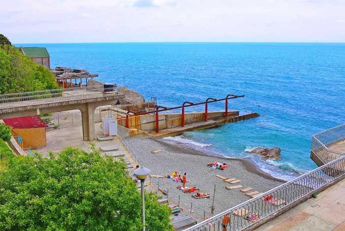 Фото пляжа санатория министерства обороны Алупка2