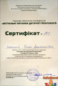 Сертификат Зейкиной О.А. о принятии участия в конференции