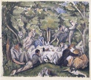 Le Dejeuner sur L'herbe -Cezanne