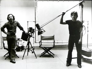 Me on the right a lifetime ago in my photography studio with Rob Altaffer