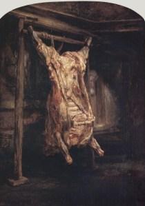 Rembrandts - The Carcass - Louvre Paris
