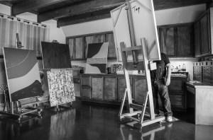 Rod Jones Artist in Studio