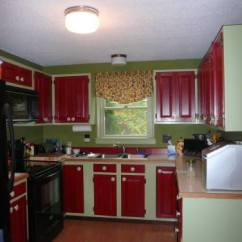 Red Kitchen Valance Movable Island With Rod Ladmans Window Designs