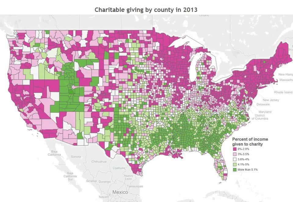 Charitable Giving Map