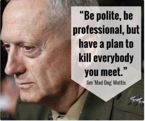 Retired Marine Mad Dog Mattis
