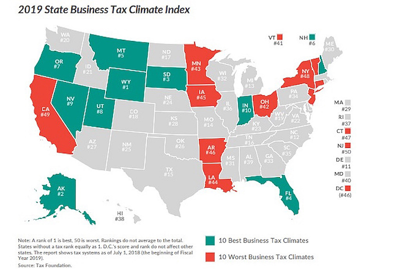 The 10 States with the Best Tax Systems (and the 10 Worst)
