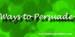 ways to persuade